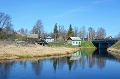 Ladozhka rzeka przy Staraya Ladoga (Elena rzeka) obrazy royalty free