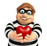 Ladrão com coração ilustração royalty free