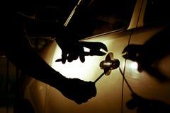 Ladrão de carro Fotografia de Stock Royalty Free