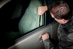 Ladrão do automóvel Imagem de Stock Royalty Free