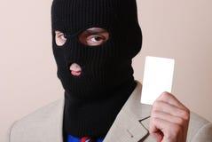 Ladrão do cartão de crédito Imagem de Stock Royalty Free