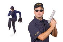 Ladrão e polícia Foto de Stock Royalty Free