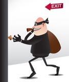 Ladrão escapado quase Imagem de Stock