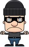 Ladrão irritado Man dos desenhos animados Fotografia de Stock Royalty Free