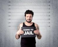 Ladrão na cadeia fotografia de stock