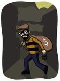 Ladrão na noite Imagem de Stock