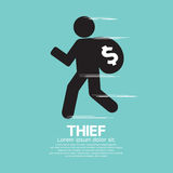 Ladrón Black Symbol Graphic Fotos de archivo