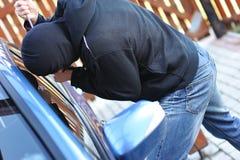 Ladrón de coche Imágenes de archivo libres de regalías