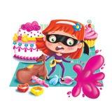 Ladrón de dulces ilustración del vector