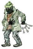 Ladrón de la historieta ilustración del vector