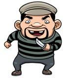 Ladrón de la historieta Imágenes de archivo libres de regalías