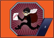 Ladrón de los datos Imágenes de archivo libres de regalías