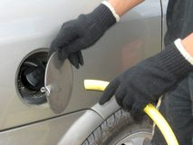 Ladrón del combustible Foto de archivo