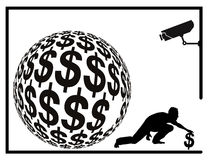 Ladrón del dinero Foto de archivo