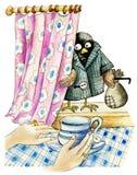 Ladrón del gorrión stock de ilustración
