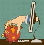 Ladrón del ordenador libre illustration