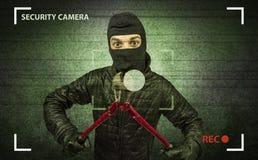 Ladrón en la acción Foto de archivo