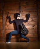 Ladrón enmascarado foto de archivo