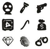 Ladrón Icons Freehand Fill Fotos de archivo libres de regalías