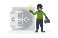 Ladrón que roba la caja fuerte libre illustration