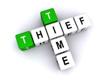 Ladrón Sign del tiempo stock de ilustración