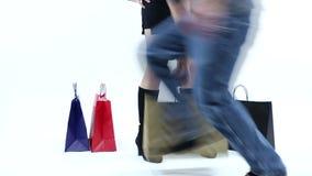 Ladrón Stealing Shopping Bags almacen de video