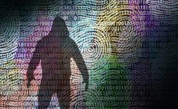 Ladrón Technology Security de la identidad stock de ilustración