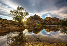 Ladrador Dam no crepúsculo Imagens de Stock Royalty Free