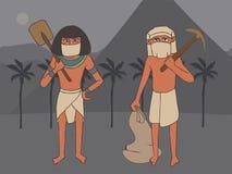Ladri della tomba nell'egitto antico immagini stock