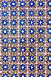 Ladrilhos antigos pintados à mão com o ornamento geométrico multi-colorido Projeto exterior do português Portugal, Sintra, o Pa d Fotografia de Stock Royalty Free