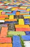 Ladrillo colorido Fotos de archivo