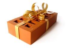 Ladrillo como concepto del regalo Imágenes de archivo libres de regalías
