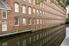 Ladrillo de las fábricas de algodón de Boott Foto de archivo