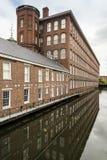 Ladrillo de las fábricas de algodón de Boott Fotografía de archivo libre de regalías