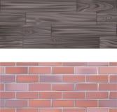 Ladrillo de Tileable y Textur de madera libre illustration