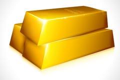 Ladrillo del oro Imagenes de archivo