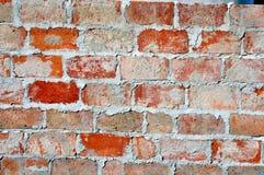 Ladrillo rojo con cierre del mortero para arriba Foto de archivo libre de regalías