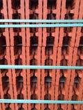 Ladrillo rojo con la cinta de la turquesa Imagen de archivo libre de regalías