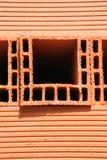 Ladrillo rojo de la casa Fotografía de archivo