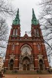 Ladrillo rojo viejo Johannes Church en Helsinki, Finlandia Fotos de archivo libres de regalías
