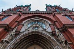 Ladrillo rojo viejo Johannes Church en Helsinki, Finlandia Fotografía de archivo