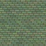 Ladrillo verde de la textura inconsútil Imagenes de archivo
