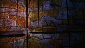 Ladrillo video de la pintada del movimiento, curva de la albañilería desigual almacen de metraje de vídeo