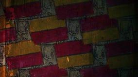 Ladrillo video de la pintada del movimiento, modelo de la albañilería almacen de metraje de vídeo