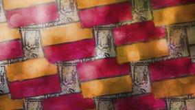 Ladrillo video de la pintada del movimiento, modelo de la albañilería metrajes