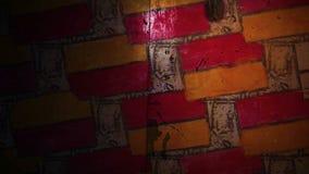 Ladrillo video de la pintada del movimiento, modelo de la albañilería almacen de video