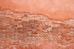 Ladrillo y estuco viejos de la pared Foto de archivo
