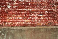 Ladrillo y muro de cemento Fotos de archivo libres de regalías