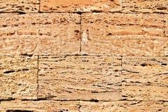 Ladrillos ásperos de la albañilería del coquina imagenes de archivo