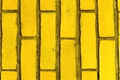 Ladrillos amarillos Foto de archivo
